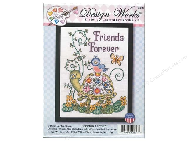 Design Works Cross Stitch Kit 8 x 10 in. Friends Forever