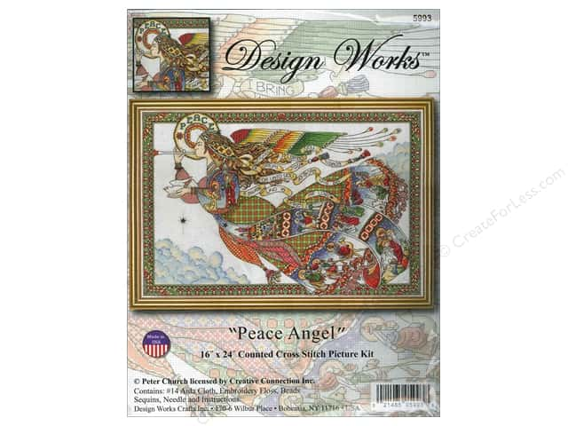 Design Works Cross Stitch Kit 16 x 24 in. Peace Angel
