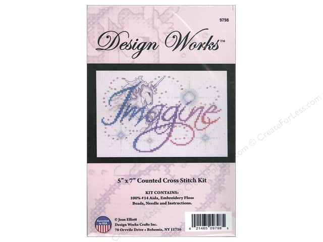 Design Works Cross Stitch Kit 5 x 7 in. Imagine