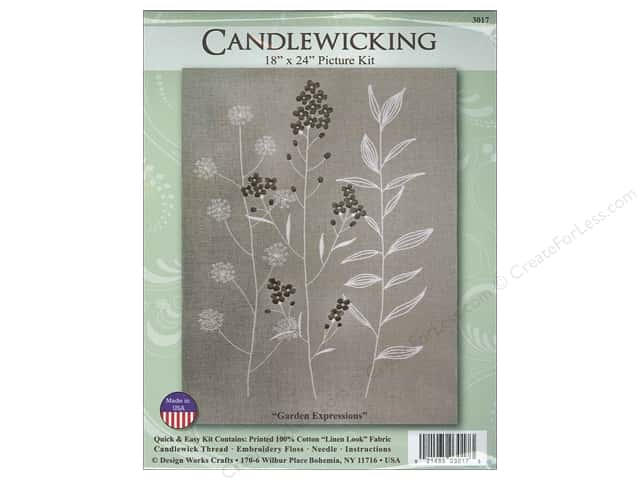 Design Works Candlewicking Kit 18 x 24 in. Garden Expressions