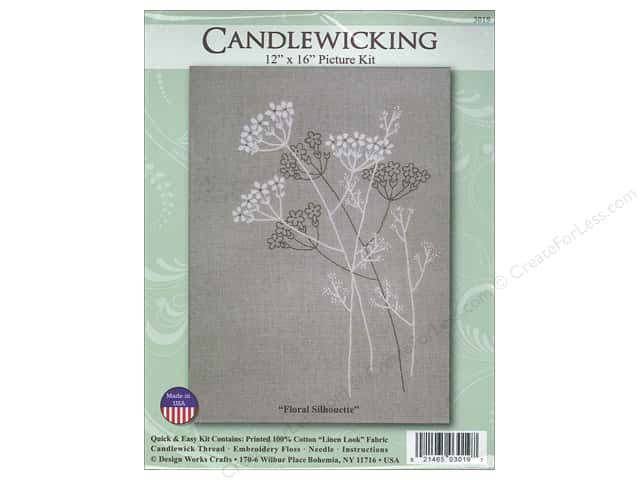 Design Works Candlewicking Kit 12 x 16 in. Floral Silhouette