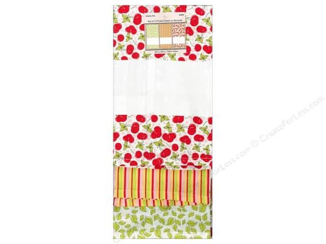 "Design Works Towel 18""x 28"" Printed Cherry Trio"