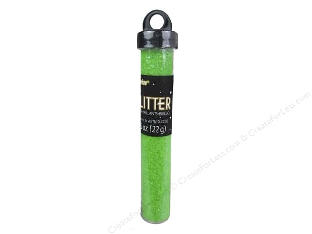 Darice Glitter Tube 3/4 oz. Green Neon