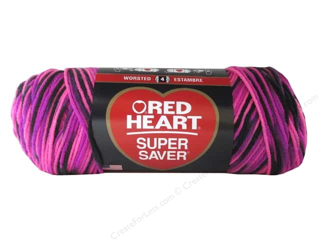 Red Heart Super Saver Yarn 236 yd. #3938 Panther Pink