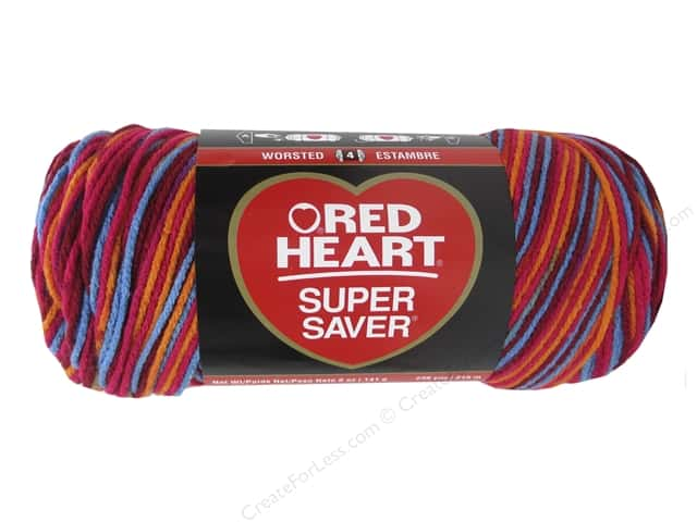 Red Heart Super Saver Yarn #3985 Sunrise 236 yd.