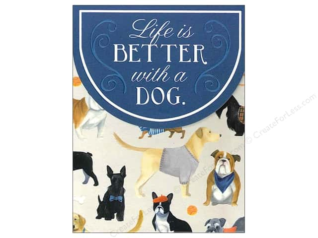 Molly & Rex Pocket Note Pad Life Is Better Dogs