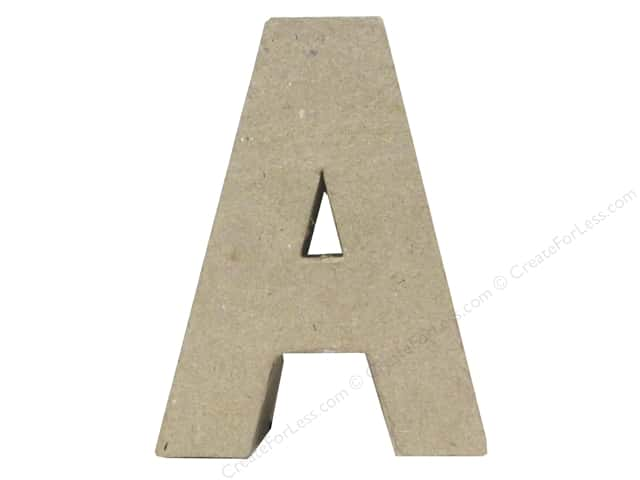 Paper Mache Letter A by Craft Pedlars 4 in.