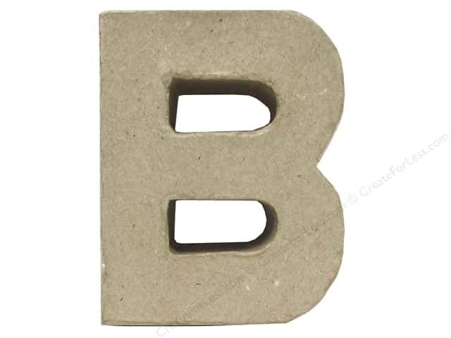 Paper Mache Letter B by Craft Pedlars 4 in.