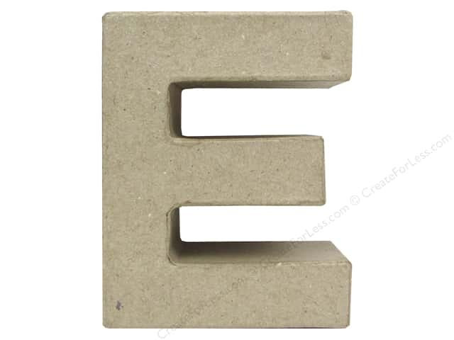 Paper Mache Letter E by Craft Pedlars 4 in.
