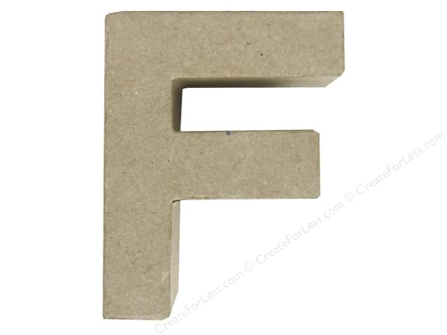 Paper Mache Letter F by Craft Pedlars 4 in.