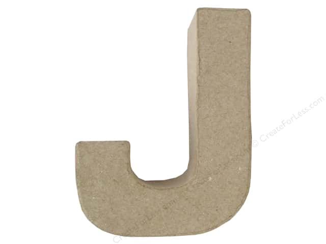 Paper Mache Letter J by Craft Pedlars 4 in.