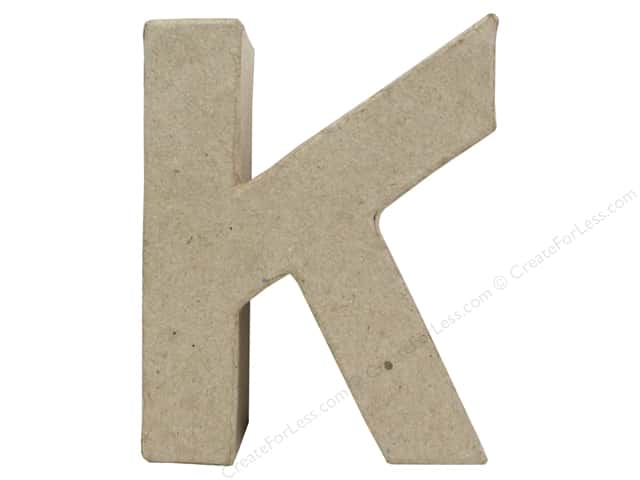Paper Mache Letter K by Craft Pedlars 4 in.