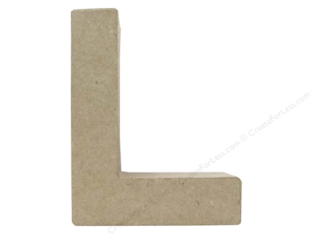 Paper Mache Letter L by Craft Pedlars 4 in.