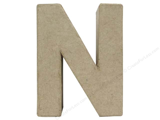 Paper Mache Letter N by Craft Pedlars 4 in.