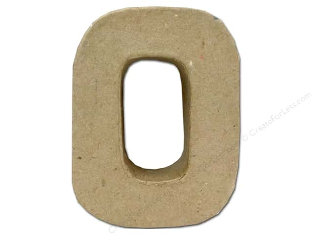 Paper Mache Letter O by Craft Pedlars 4 in.