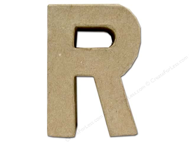 Paper Mache Letter R by Craft Pedlars 4 in.