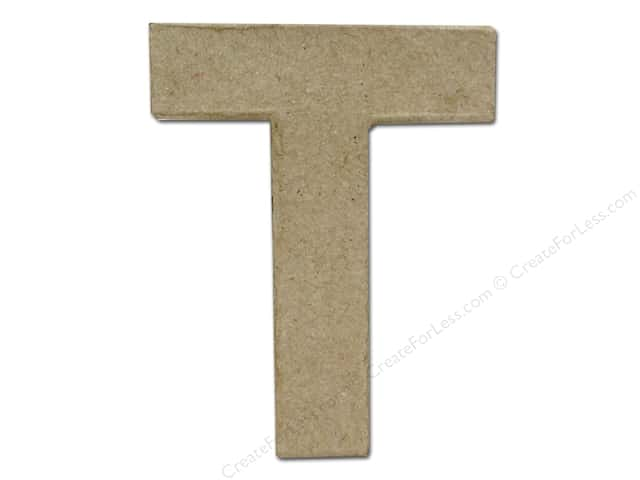 Paper Mache Letter T by Craft Pedlars 4 in.