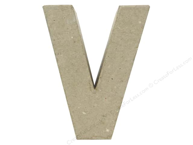 Paper Mache Letter V by Craft Pedlars 4 in.