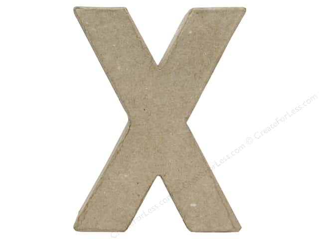Paper Mache Letter X by Craft Pedlars 4 in.