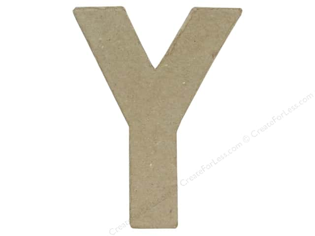 Paper Mache Letter Y by Craft Pedlars 4 in.