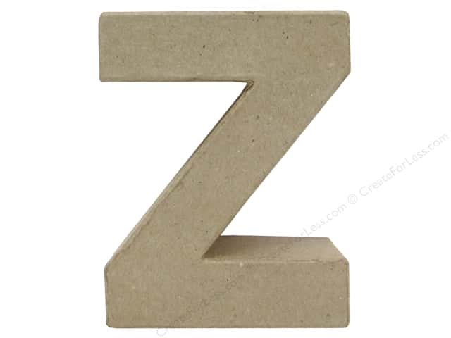 Paper Mache Letter Z by Craft Pedlars 4 in.