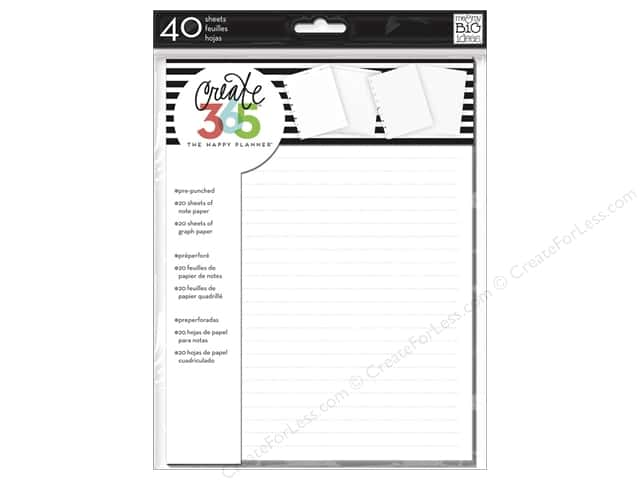 Me&My Big Ideas Create 365 Happy Planner Note & Graph Paper