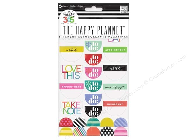Me&My Big Ideas Collection Create 365 Happy Planner Sticker Good Day Brights