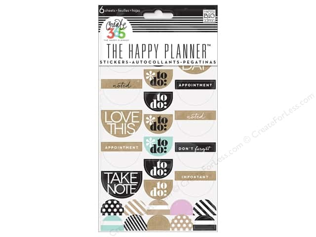 Me&My Big Ideas Collection Create 365 Happy Planner Sticker Love This Neutral