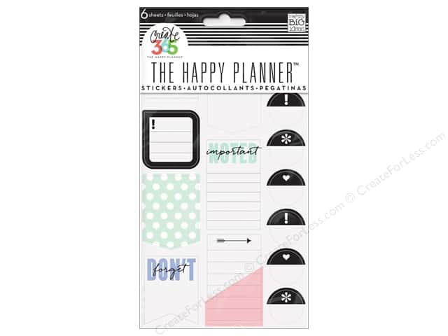 Me&My Big Ideas Collection Create 365 Happy Planner Sticker Don't Forget