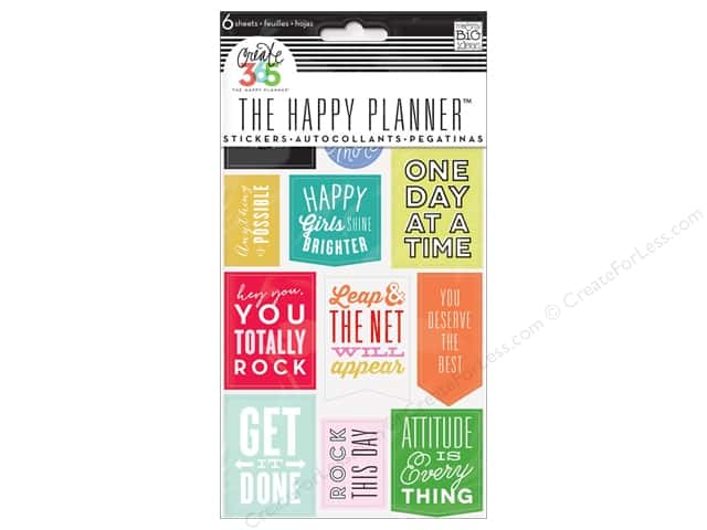 Me&My Big Ideas Create 365 Happy Planner Sticker Show Up