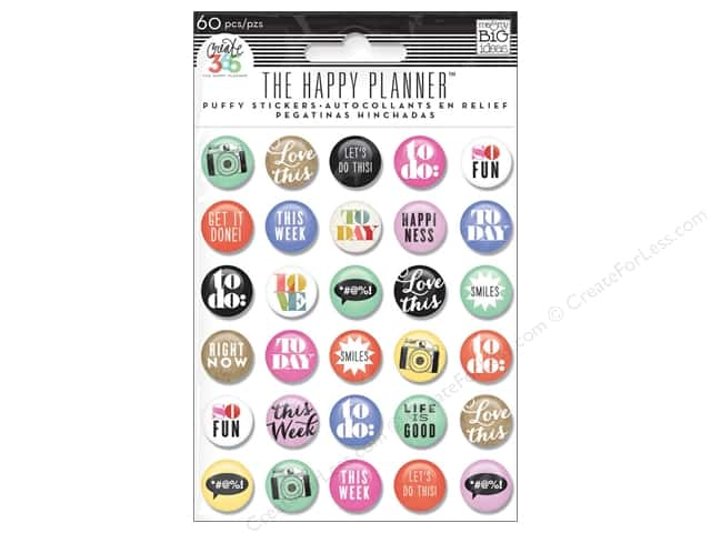 Me&My Big Ideas Create 365 Happy Planner Sticker Puffy To Do