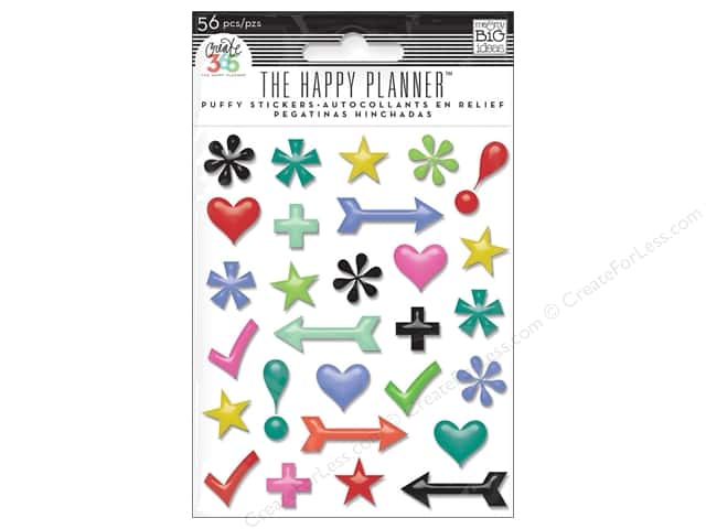 Me&My Big Ideas Create 365 Happy Planner Sticker Puffy Icons
