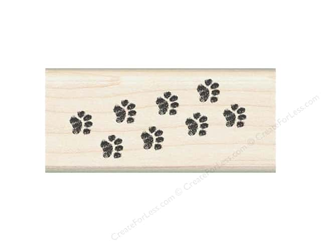 Inkadinkado Wood Stamp Border Kitty Paw