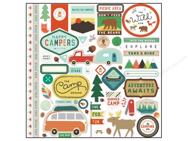 Echo Park Stickers 12 x 12 in. Wild Life Collection Elements (15 sheets)
