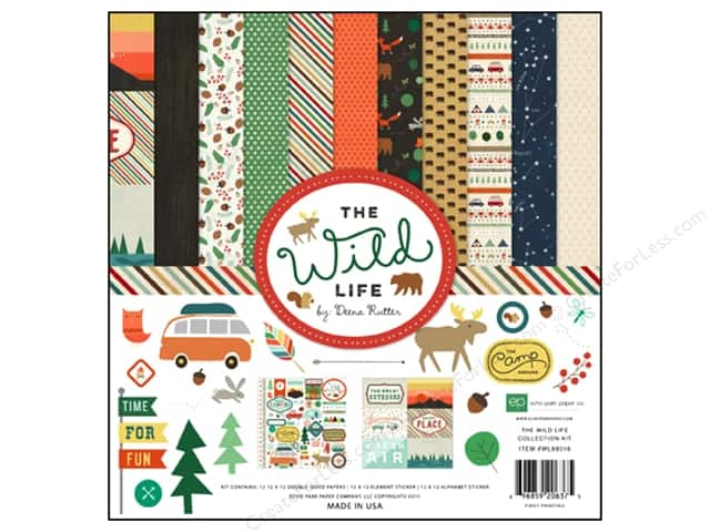 Echo Park 12 x 12 in. Collection Kit Wild Life