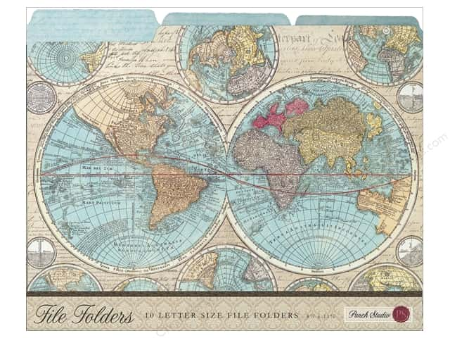 Punch Studio File Folder World Atlas (10 pieces)