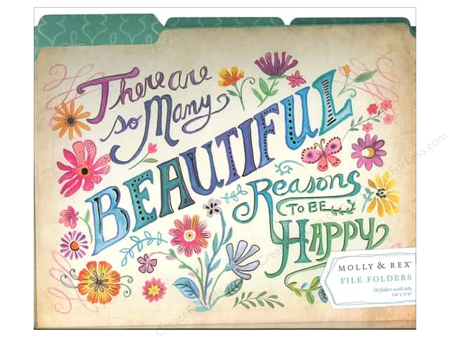 Molly & Rex File Folders 10 pc. Beautiful Reasons (10 sets)