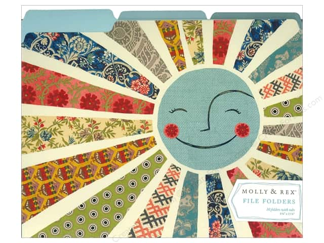 Molly & Rex File Folders 10 pc. Smiling Sun (10 sets)