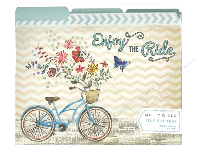 Molly & Rex File Folders 10 pc. Enjoy The Ride (10 sets)