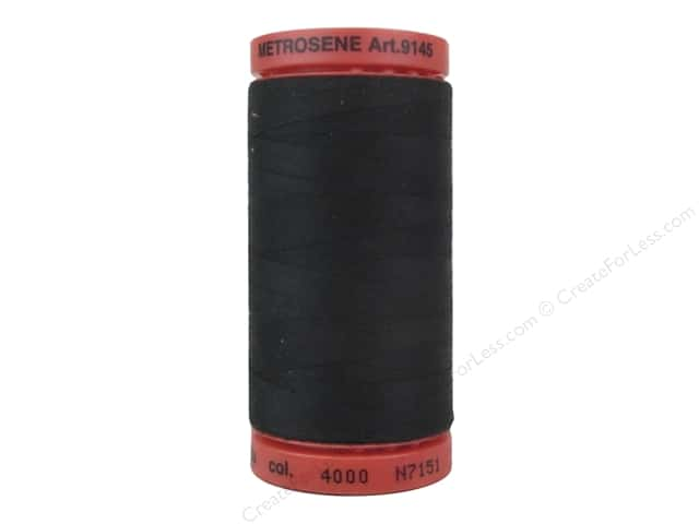 Mettler Metrosene All Purpose Thread 547 yd. #4000 Black