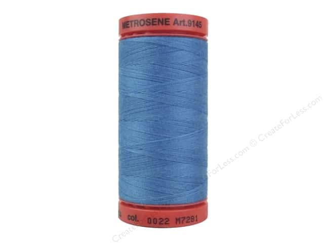 Mettler Metrosene All Purpose Thread 547 yd. #0022 Wave Blue