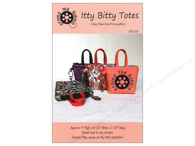 Around The Bobbin Itty Bitty Totes Pattern