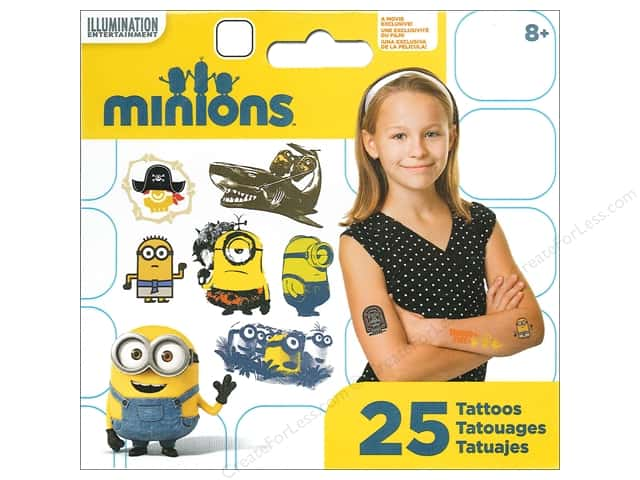 SandyLion Tattoo Universal Minions Movie Mini 25pc