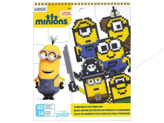 Perler Fused Bead Accessories Pattern Pad Minions