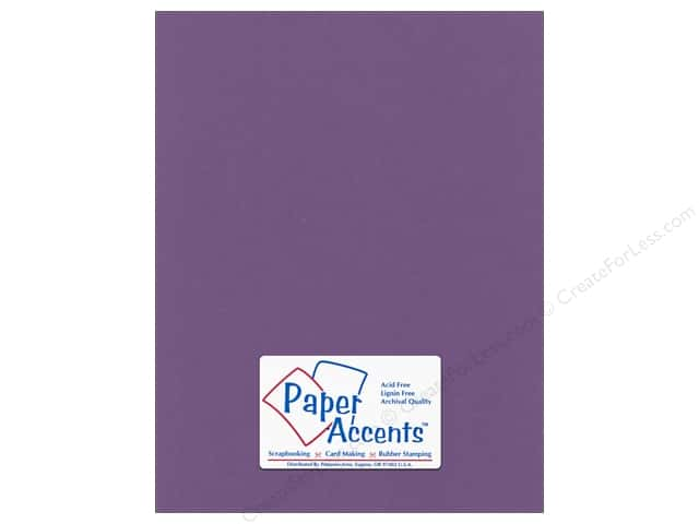 Cardstock 8 1/2 x 11 in. Canvas Plum by Paper Accents (25 sheets)