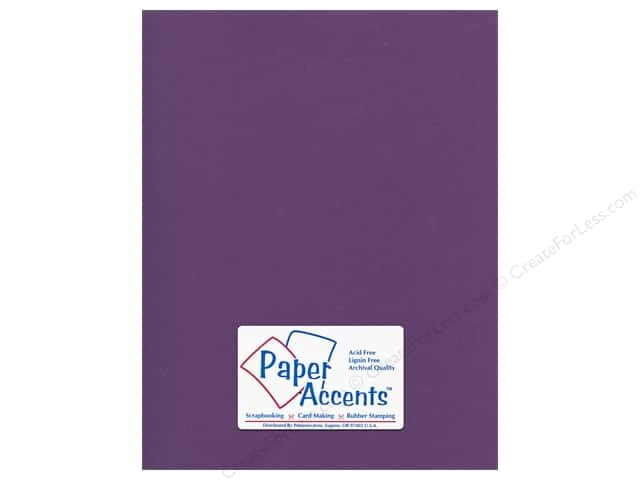 Cardstock 8 1/2 x 11 in. Canvas Deep Purple by Paper Accents (25 sheets)