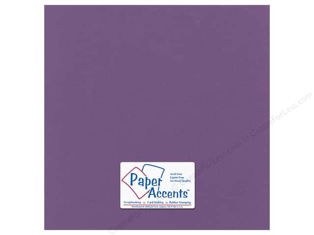 Paper Accents Cardstock 12 x 12 in. Canvas Plum (25 sheets)