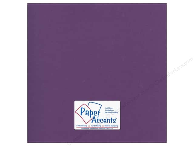 Paper Accents Cardstock 12 x 12 in. #56613 Canvas Deep Purple (25 sheets)