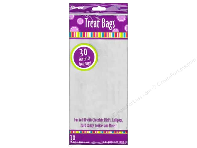 Darice Bag Treat 4 x 9 in. Clear 30 pc.