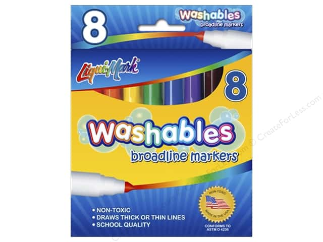 Liquimark Markers Set Broadline Washables 8pc